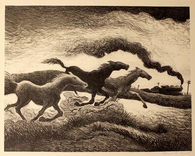 Thomas Hart Benton, 'Running Horses', 1955
