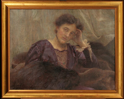 VLAHO BUKOVAC, 'Portrait of a Wife', 1914
