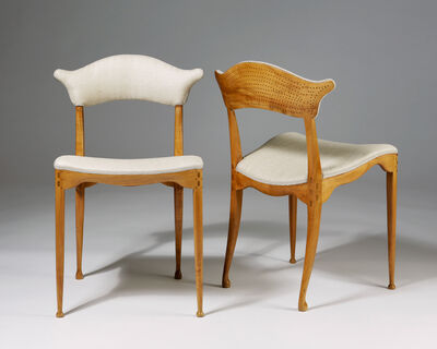 Peder Moos, 'Two pierced back chairs', 1949