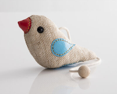 "Renate Müller, '""Therapeutic Toy"" Bird in jute and leather. Originally designed and made by Renate Müller in 1981/82. This example made by Renate Müller, Germany, 2015.', 2015"