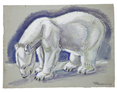 Walter Addison Estate, 'Bears: Polar Bear Standing', 1940