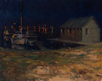 Carl Bretzke, 'Fishing Shack at Night, Grand Marais', 2015