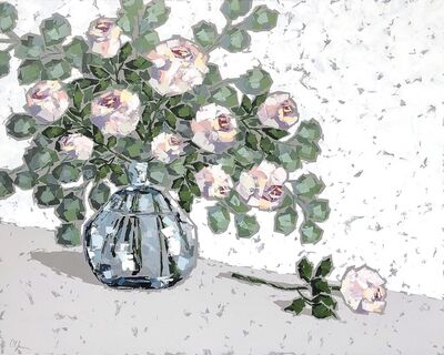 Christie Younger, 'Roses in Blue Glass II', 2019