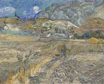 Vincent van Gogh, 'Landscape at Saint-Rémy (Enclosed Field with Peasant)', 1889