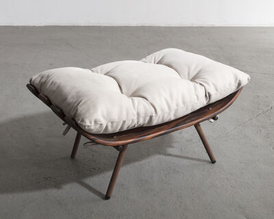 Carlo Hauner & Martin Eisler, 'Ottoman in rosewood and wrought iron with upholstered cushion.', ca. 1955