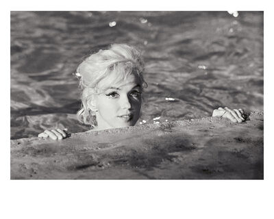 Lawrence Schiller, 'Marilyn Monroe close up in pool (black and white), 1962', 1962
