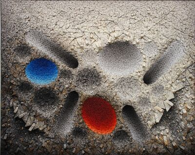 Chun Kwang Young, 'Aggregation 12 - MY020 Blue & Red', 2012
