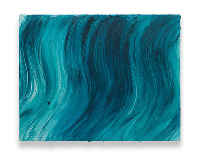 Jason Martin, 'Untitled (Caribbean blue / Heliogen green)', 2020