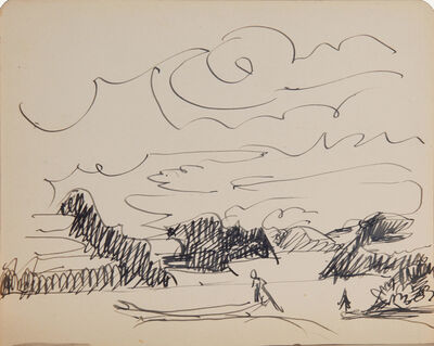 Ernst Ludwig Kirchner, 'Boot auf dem See (Boat on a Lake)', 1922
