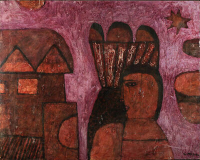 Joseph Glasco, 'Scarlet Letter', 1962