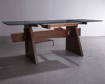 "Garry Knox Bennett, '""Desk with Dangles""', 1981"