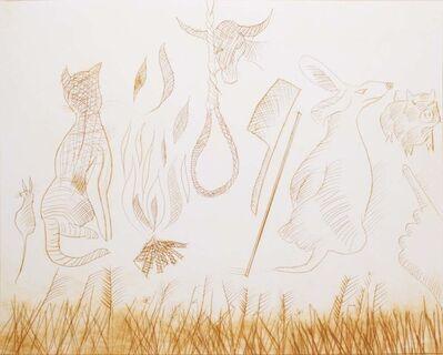 Charles Blackman, 'Fire Won't Burn Stick, Stick Won't Beat Dog...', 1977