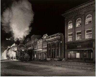 O. Winston Link, 'Main Line and Main Street, North Fork, VA', 1958