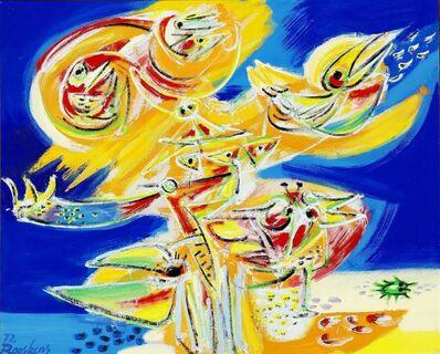 Anton Rooskens, 'Vogels aan het strand', 1972