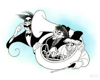 """Al Hirschfeld, '""""Marx Brothers: Night at the Opera""""', 1989"""