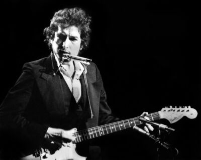 Gijsbert Hanekroot, 'Bob Dylan (Performing Live with the Band, Madison Square Garden, New York,USA ', 1974