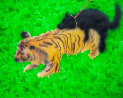 Youada, 'When a tiger comes down to ZhuanTang, it is ridden by a black dog', 2020