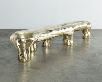 The Haas Brothers, 'Unique Goldie Hawn Hex Elephant bench in brass tile. Designed and made by The Haas Brothers, Los Angeles.', 2014
