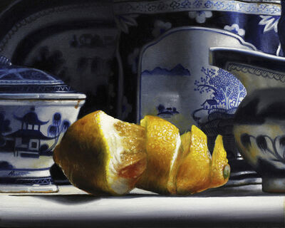 Larry Preston, 'Blue and White China with Lemon', 2019
