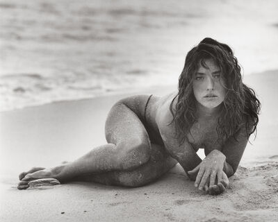 Herb Ritts, 'Tatjana in Sand (B), St Barthelemy', 1987