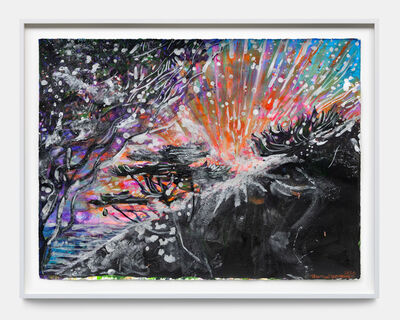 Zhang Enli 张恩利, 'Silhouette Sunset - Silver Across the Sky and in the Trees', 2020