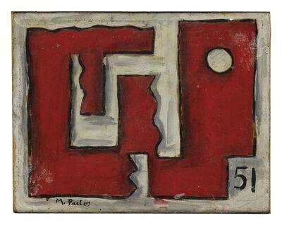 Manuel Pailós, 'Formas en rojo y blanco', 1951