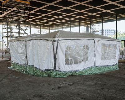 Joachim Brohm, 'L. Mies van der Rohe, Neue Nationalgalerie Berlin; Refurbishment by David Chipperfield Architects in progress (BRG0016)', 2020