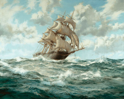 Montague Dawson, 'Over the Crest: The Lightning', 20th Century