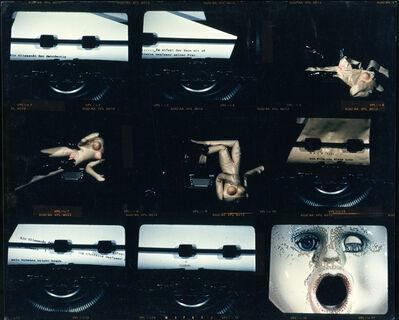 "Klaus Lutz, 'Contact sheet with film stills from ""Mach""', ca. 1989"