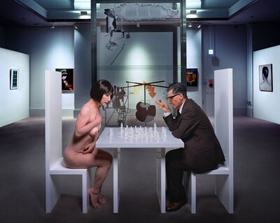 Yasumasa Morimura, 'A REQUIEM: SELF PORTRAIT AS MARCEL DUCHAMP (BASED ON THE PHOTO BY JULIAN WASSER)', 2010