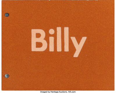 Billy Al Bengston, 'Billy', 1968