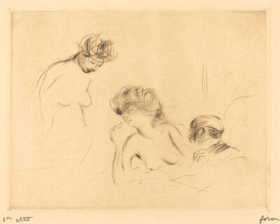 Jean-Louis Forain, 'In a Private Room (third plate)', 1910