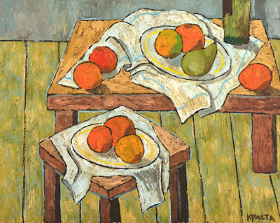 Christa Kirova, 'Still life with two tables ', 2021