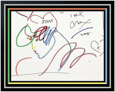 Peter Max, 'Original Blushing Beauty Profile', 1989