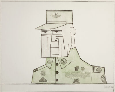 Saul Steinberg, 'General A', 1969