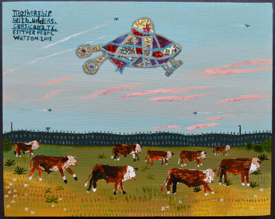 Esther Pearl Watson, 'Mothership With Udders', 2019
