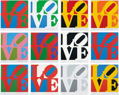 Robert Indiana, 'THE BOOK OF LOVE SUITE', 1996