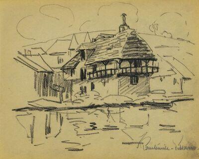 Paulémile Pissarro, 'Maison sur la rivière'