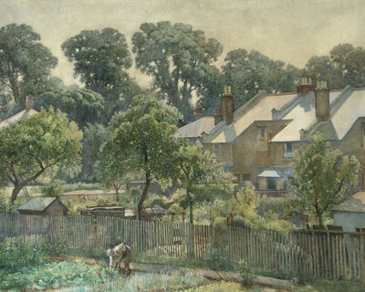 Harry Bush, 'Summer Morning - View from the Artist's House at 19 Queensland Avenue, London SW19', 1953