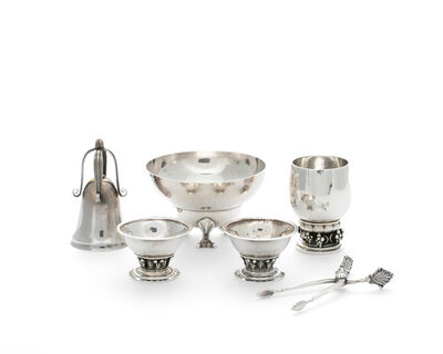 Georg Jensen, 'A group of Georg Jensen silver items'