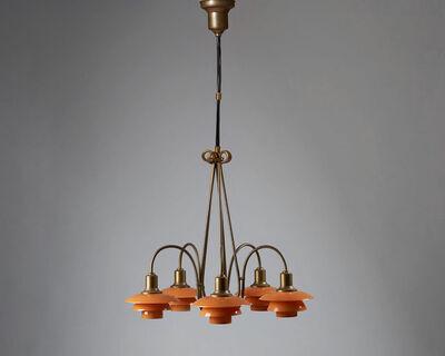 """Poul Henningsen, 'Ceiling light """"Basket Crown"""" designed by Poul Henningsen for Louis Poulsen, Denmark. 1931-1934. ', 1931-1934"""