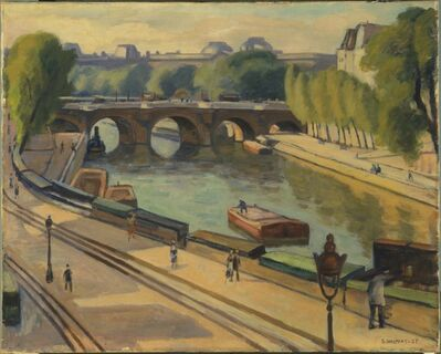 Samuel Halpert, 'Pont Neuf', 1925