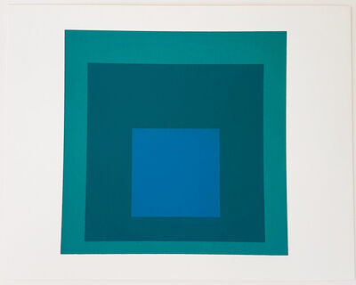 Josef Albers, 'Homage to the Square: Blue Reminding', 1962