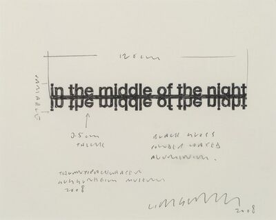 Liam Gillick, 'Untitled (A sketch for an element of his Guggenheim show)', 2008