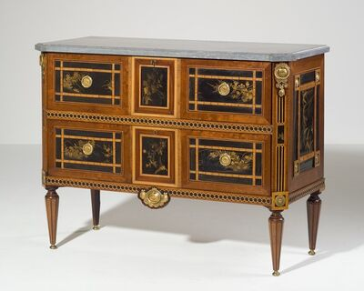 Commode, 'A Dutch Louis Seize Suite of One Commode and Four Matching Corner Cabinets', 1780-1795