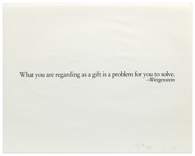Joseph Kosuth, 'One Line Sentence For The Brooklyn Museum Collection: The Play of the Unmentionable', 1990