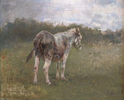 Rosa Bonheur, 'Landscape with a donkey', ca. 1880