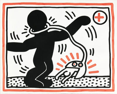 Keith Haring, 'Untitled #1, from Free South Africa', 1985