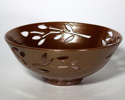 Carol Berger, 'Copper Leaves Bowl- Earth Tones, Porcelain, Decor', 2020