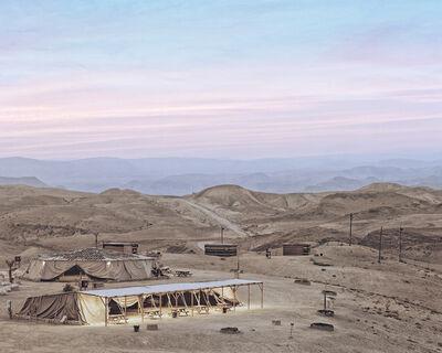 Roei Greenberg, 'Tents, sunset over the Judean Desert, Dragot', 2016